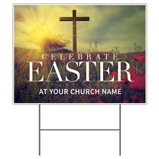 Celebrate Easter Cross Yard Sign