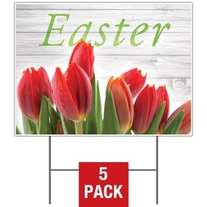 Easter Invited Wood Yard Signs - Stock 1-sided