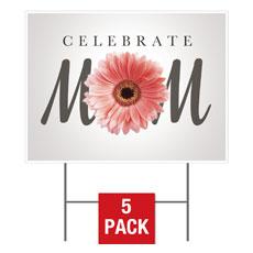 Mom Flower Yard Sign