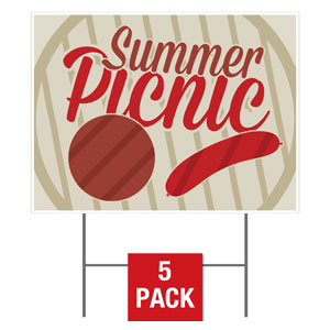 Summer Picnic Yard Signs