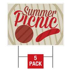 Summer Picnic Yard Sign