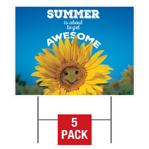 Summer is Awesome Yard Signs - Stock 1-sided