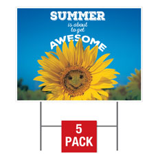 Summer is Awesome Yard Sign