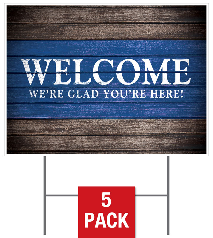 Rustic Charm Welcome Yard Sign - Church Banners - Outreach ...