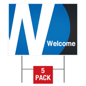 Metro Welcome Yard Signs - Stock 1-sided
