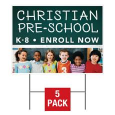 Enroll Kids Preschool Yard Sign