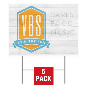 VBS Shield Yard Signs