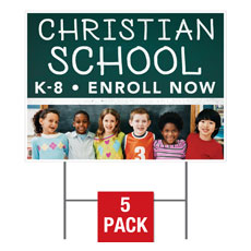 Enroll Kids School Yard Sign