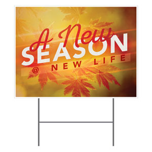New Season Leaves Yard Signs