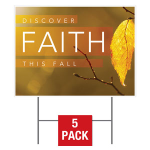 Fall Discover Faith Yard Signs - Stock 1-sided