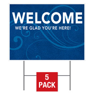 Flourish Welcome Yard Signs