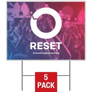 Reset Yard Signs - Stock 1-sided