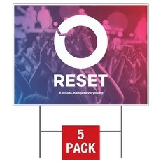 Reset Yard Sign