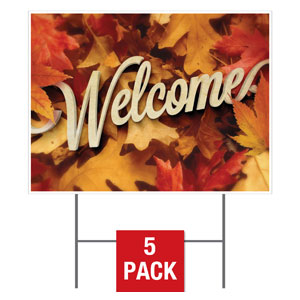Welcome Leaf Pile Yard Signs