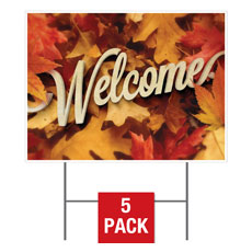 Welcome Leaf Pile Yard Sign
