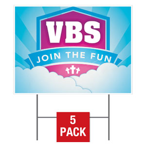 VBS Clouds Yard Signs
