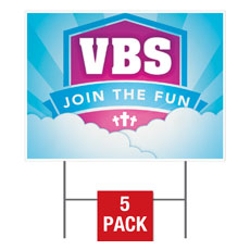 VBS Clouds Yard Sign