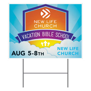 VBS Clouds Logo Yard Signs
