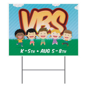VBS Happy Kids YardSigns