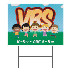 VBS Happy Kids Yard Sign