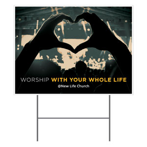 Worshiper Heart Yard Signs