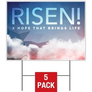 Risen Clouds Yard Signs