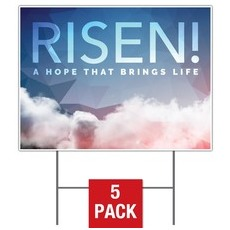 Risen Clouds Yard Sign