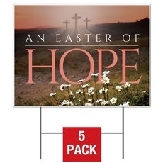Easter Hope Daisy Yard Sign
