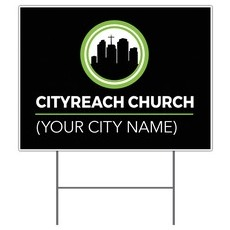 CityReach Black Yard Sign