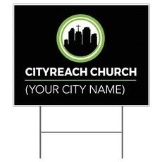 CityReach Black Yard Sign