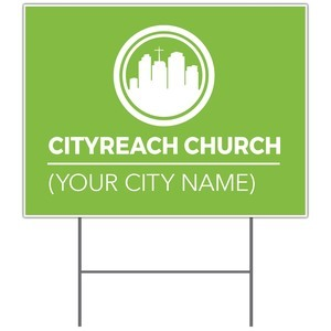 CityReach Green Yard Signs