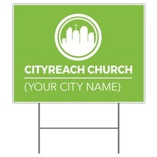 CityReach Green Yard Sign