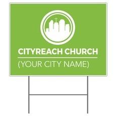 CityReach Green Yard Sign