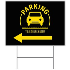 Parking Yellow Yard Sign