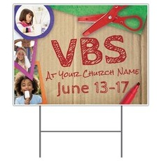 VBS Crafts Yard Sign