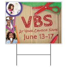 VBS Crafts Yard Sign