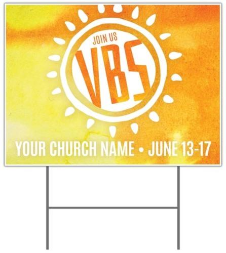 Vbs Sunny Yard Sign Church Banners Outreach Marketing