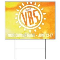 VBS Sunny Yard Sign