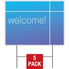 Color Wash Welcome Yard Sign