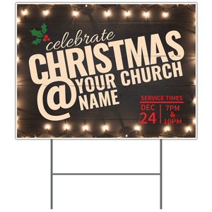 Christmas At Lights Yard Signs