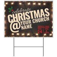Christmas At Lights Yard Sign