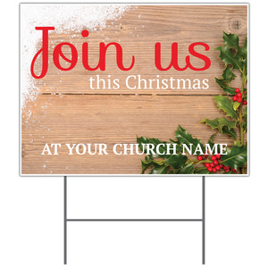 Christmas Holly Yard Signs