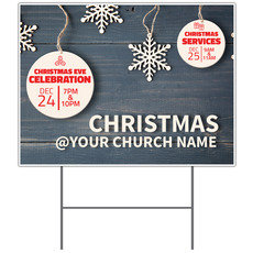 Wood Ornaments Yard Sign