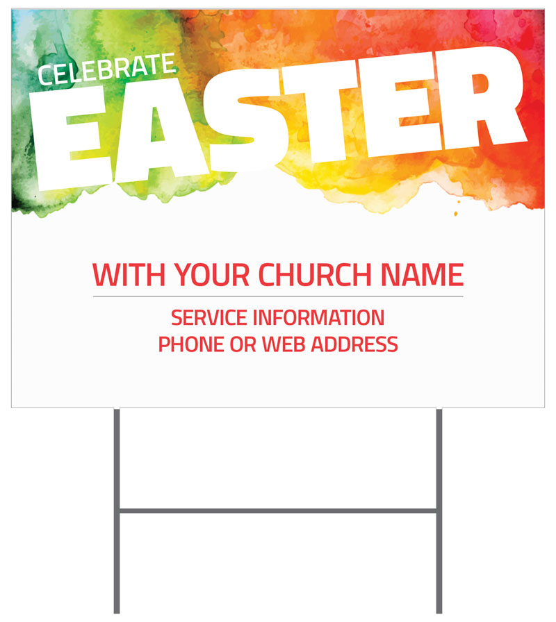 Celebrate Easter Events Yard Sign - Church Banners - Outreach Marketing