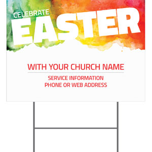 Celebrate Easter Events Yard Signs