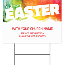 Celebrate Easter Events Yard Sign
