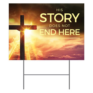 Cross Story Yard Signs