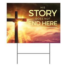 Cross Story Yard Sign
