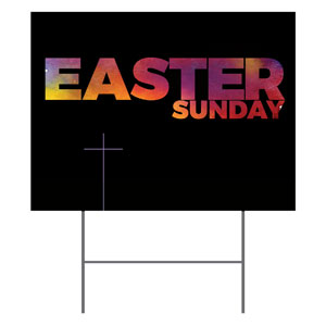 Easter Black and Bright Yard Signs - Stock 1-sided