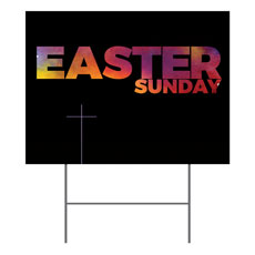 Easter Black and Bright Yard Sign